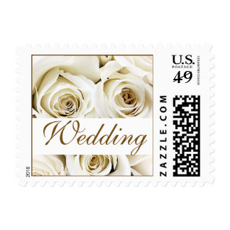 White Roses Wedding Stamps