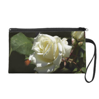 White Roses Wild Flowers Photography Purse
