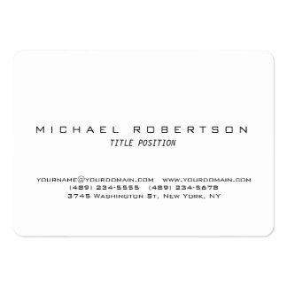 White Round Corner Minimalist Chubby Business Card