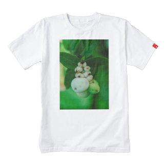 White round plant fruits macro zazzle HEART T-Shirt