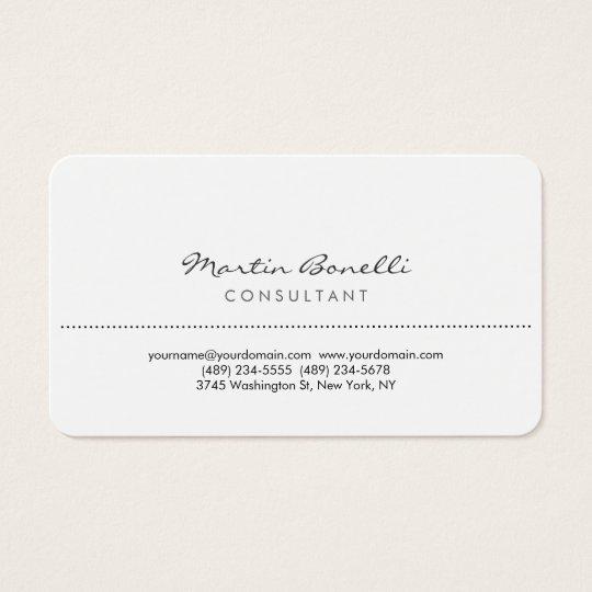 White rounded corner elegant consultant minimalist business card white rounded corner elegant consultant minimalist business card reheart Gallery