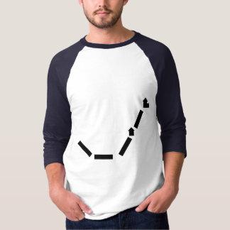 White/Royal Basic 3/4 Sleeve Raglan T-Shirt