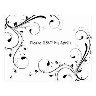 White RSVP Post Card