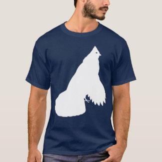 White Ruffed Grouse Bird Print T-Shirt