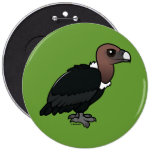 White-rumped Vulture Pinback Buttons