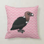 White-rumped Vulture Throw Pillow
