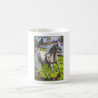 WHITE RUNNING HORSE Mug