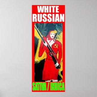 WHITE RUSSIAN SATIVA INDICA POSTER