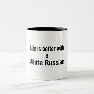White Russian Two-Tone Coffee Mug