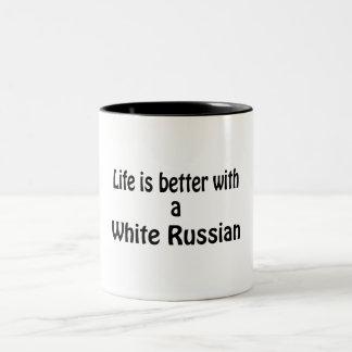 White Russian Two-Tone Coffee Mug