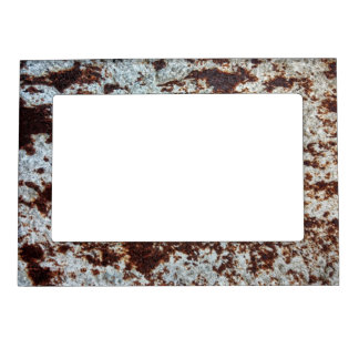 White Rusted Metal Pattern Magnetic Picture Frame