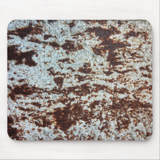 White Rusted Metal Pattern Mouse Pad