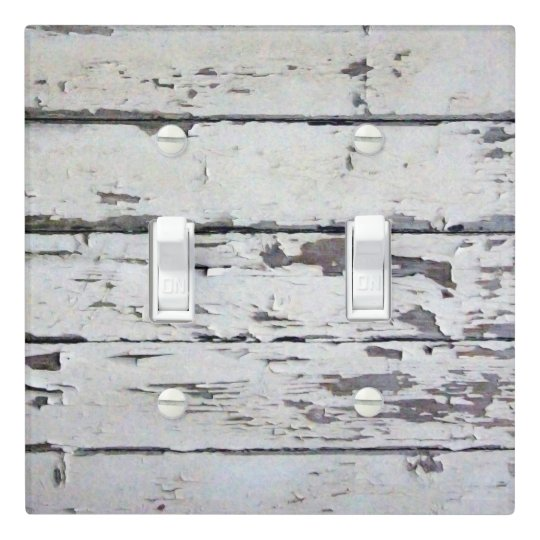 Barn Light Covers: White Rustic Barn Wood Light Switch Cover