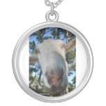 White saanen dairy goat doe nose close up HI Personalized Necklace