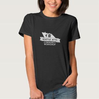 White SACW Logo, Dark Background Shirt