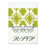 white sage romantic elegant damask personalized announcement