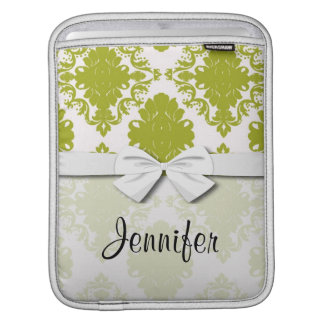 white sage romantic elegant damask sleeve for iPads