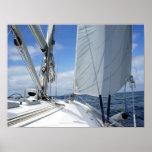 White Sailboat Deck Closeup Poster