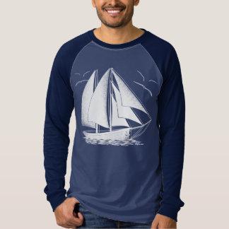 White sailboat nautical sailing sailor T-Shirt