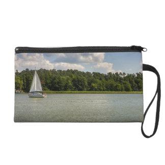 White Sailboat On A Lake Wristlet Purse