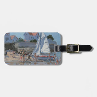 White sailboat Palais sur Mer France Luggage Tag