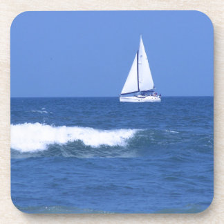 White Sailboat Photograph Coasters