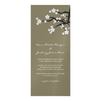 White Sakuras Cherry Blossom Wedding Invitation