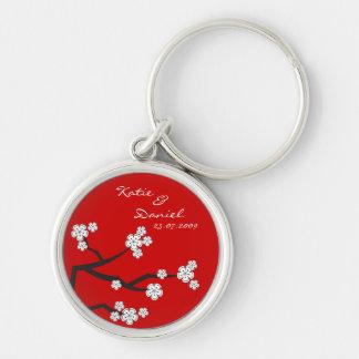 White Sakuras Thank You Favor Gift Key Chain