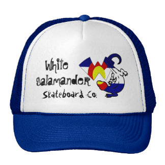 White , Salamander , Skateb... Trucker Hat