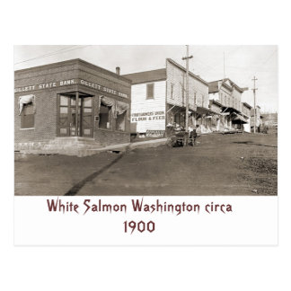 White Salmon Washington circa 1900 Postcard