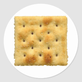 White Saltine Soda Crackers Classic Round Sticker