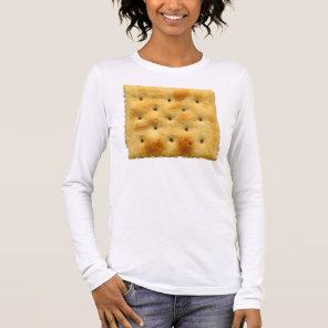 White Saltine Soda Crackers Long Sleeve T-Shirt