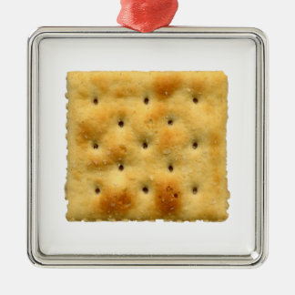 White Saltine Soda Crackers Metal Ornament