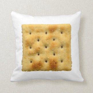 White Saltine Soda Crackers Throw Pillow