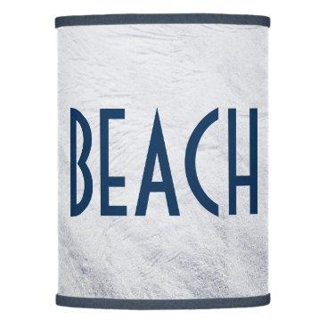 Beach Themed White Sand Beach House Blues Lamp Shade