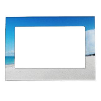 White Sand Beach Magnetic Frame