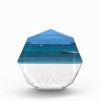 White sand beach of Flic en Flac Mauritius overloo Acrylic Award