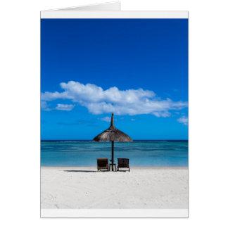 White sand beach of Flic en Flac Mauritius overloo Card