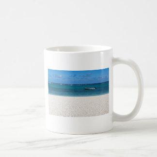 White sand beach of Flic en Flac Mauritius overloo Coffee Mug