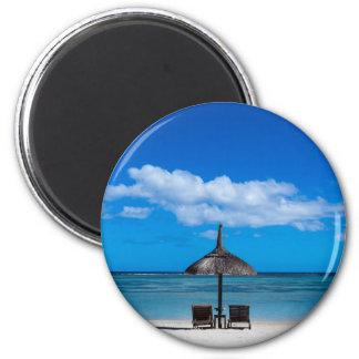 White sand beach of Flic en Flac Mauritius overloo Magnet