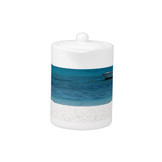 White sand beach of Flic en Flac Mauritius overloo Teapot