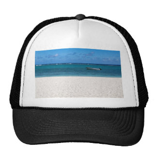 White sand beach of Flic en Flac Mauritius overloo Trucker Hat