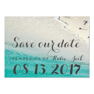 White Sand Beach Save the Date Cards