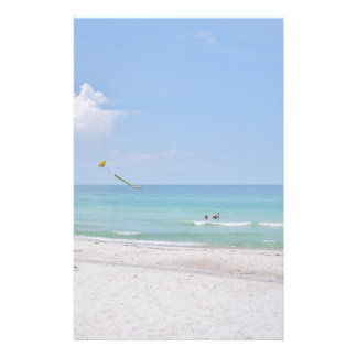 White Sand Beach Stationary Stationery
