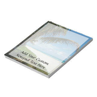 White Sand Beach w/Palm Notepad