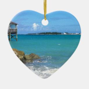 White Sand Beaches in the Bahamas Ceramic Ornament