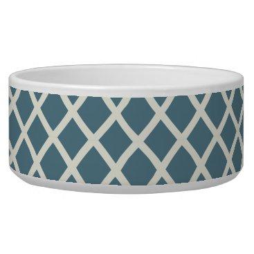 Beach Themed White Sand Deep Ocean Blue Geometric Bowl