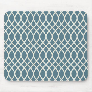 White Sand Deep Ocean Blue Geometric Mouse Pad