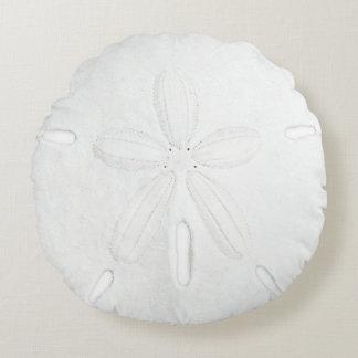 White Sand Dollar Round Throw Pillow Round Pillow