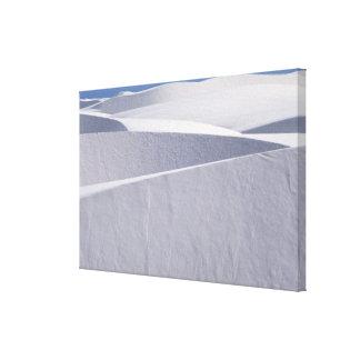 White Sand Dunes Under Blue Sky Canvas Print